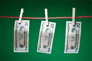 money-on-clothesline