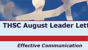 August 2011 Leader Letter