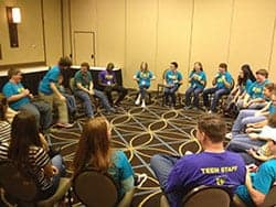 Teen Staff group discussions at THSC Convention