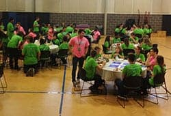 Teen Staff group lunches at THSC Convention