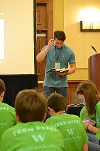 Teen Staff morning devotions at THSC Convention