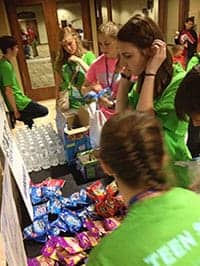 Teen Staff working together in THSC Convention.