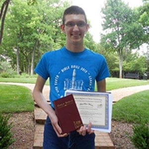 Jacob Walters, Bible Drill Champion