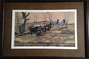 """Fenceline Friends"" Print by Ray Kelly – Framed, Signed by Artist"