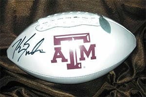 Autographed Aggie Football