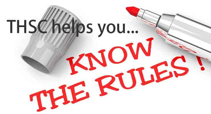 THSC helps you know the rules.