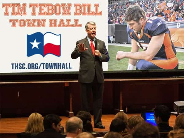 Tim Lambert speaks to homeschoolers about the Tebow Bill