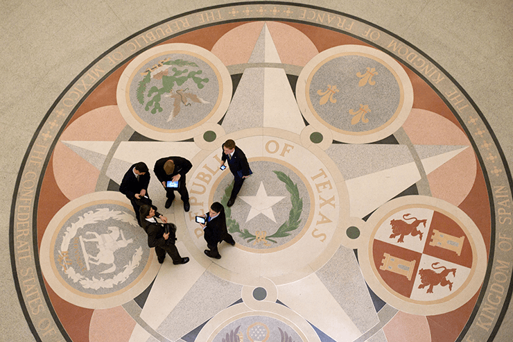 THSC Watchmen in the Texas capitol