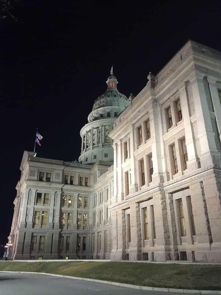Texas Capitol at Night - photo courtesy of THSC Watchmen