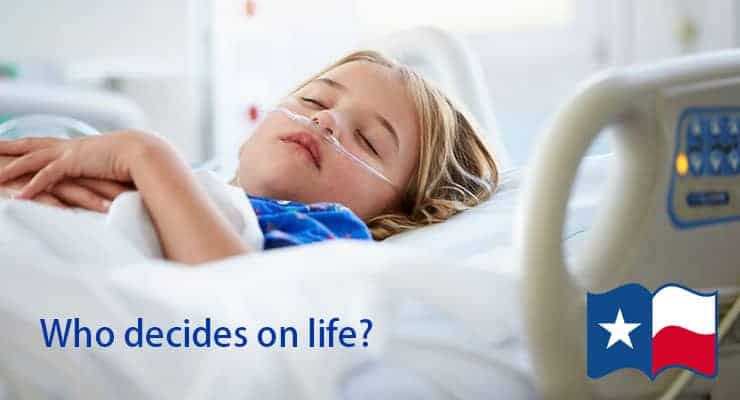Who Decides on LIfe? Sick child in hospital