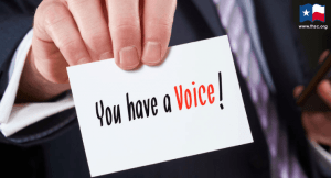 image of card with phrase you have a voice