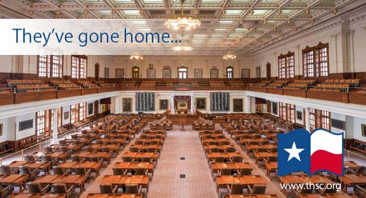 Empty Texas House Chamber