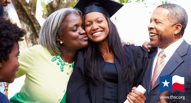 A Homeschool graduate with her family