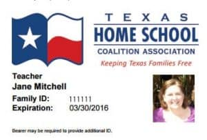 Teacher and Student Homeschool ID Cards