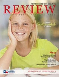 November 2015 REVIEW homeschool magazine