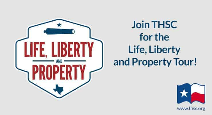 Join THSC for the Life, Liberty, Property Tour!