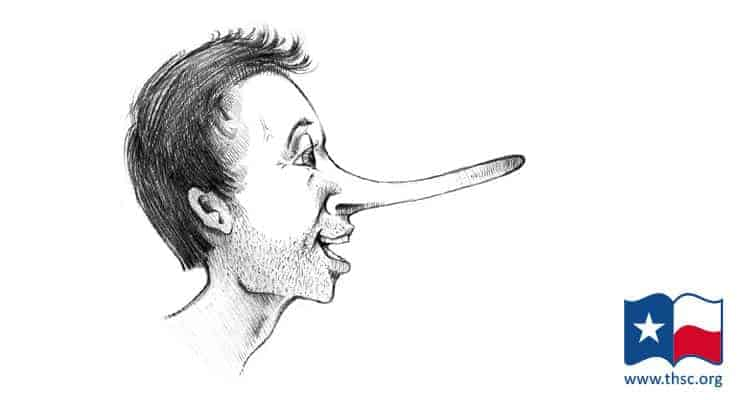 Man Lying with Long Nose