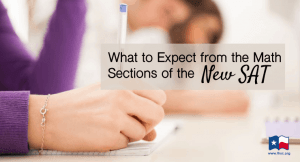 What to Expect from the Math Section of the New SAT