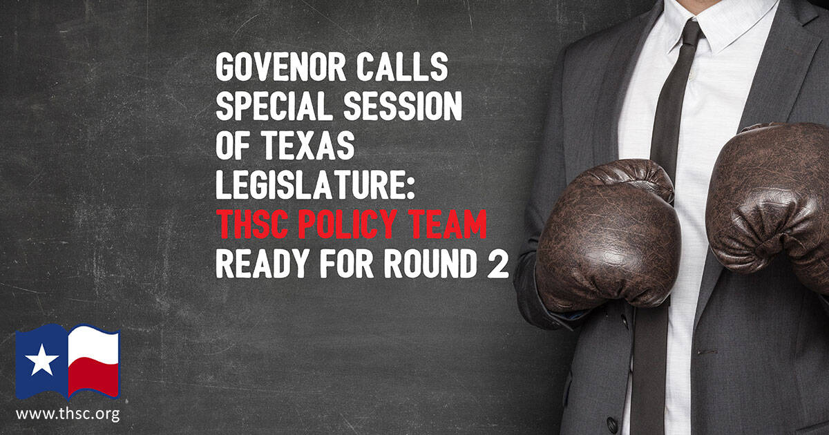 We Need Your Support for the 2017 Special Texas Legislative Session