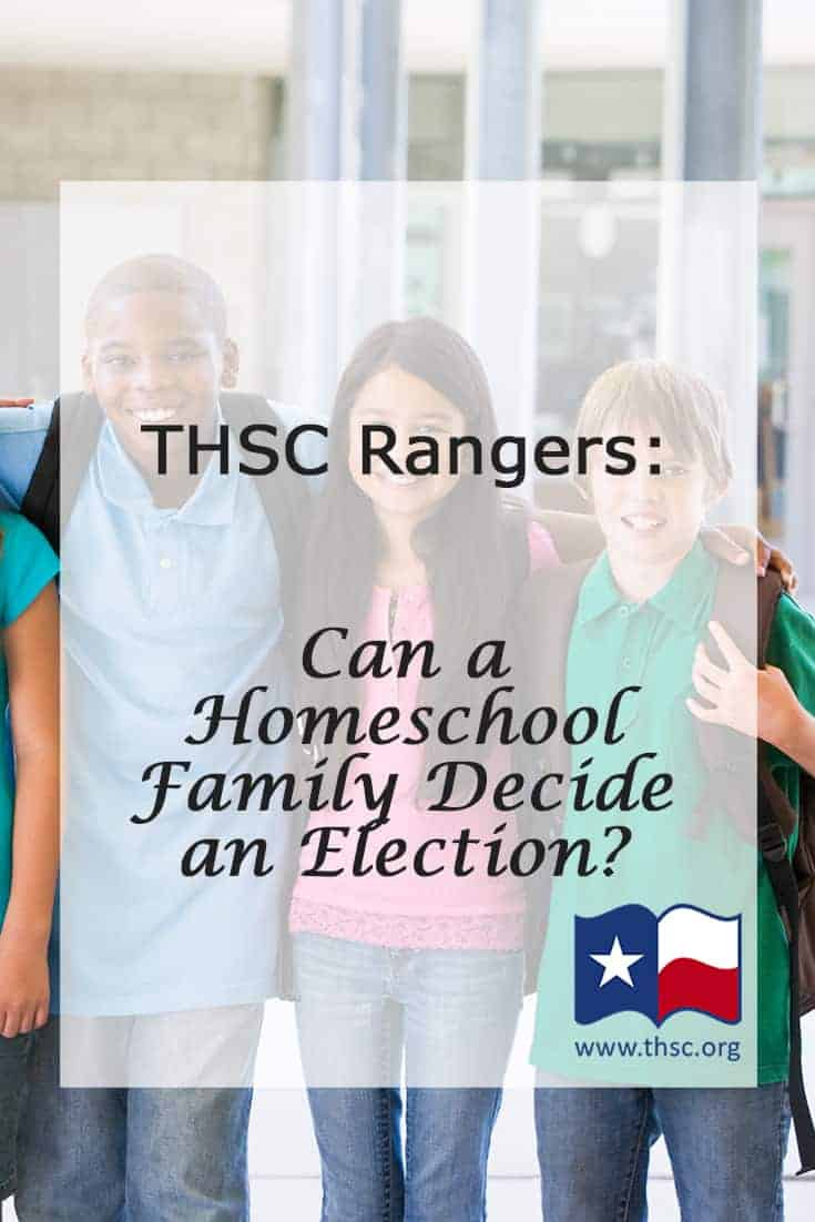 THSC Rangers: Can a Homeschool Family Decide an Election?