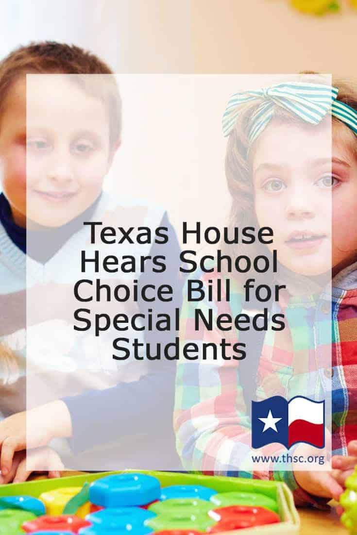 Texas House Hears School Choice Bill for Special Needs Students