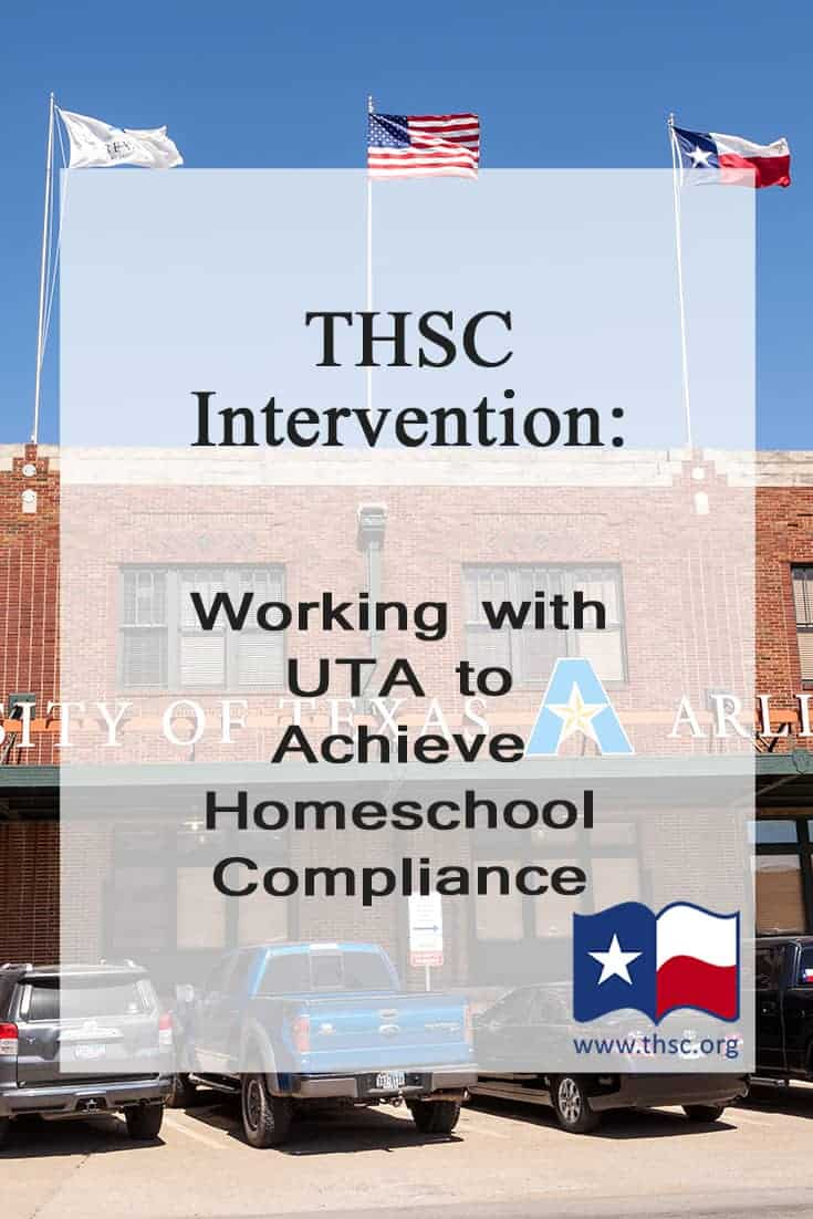 THSC Intervention: Working with UTA to Achieve Homeschool Compliance