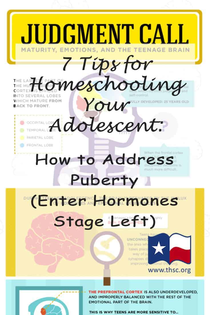 7 Tips for Homeschooling Your Adolescent: How to Address Puberty (Enter Hormones Stage Left)