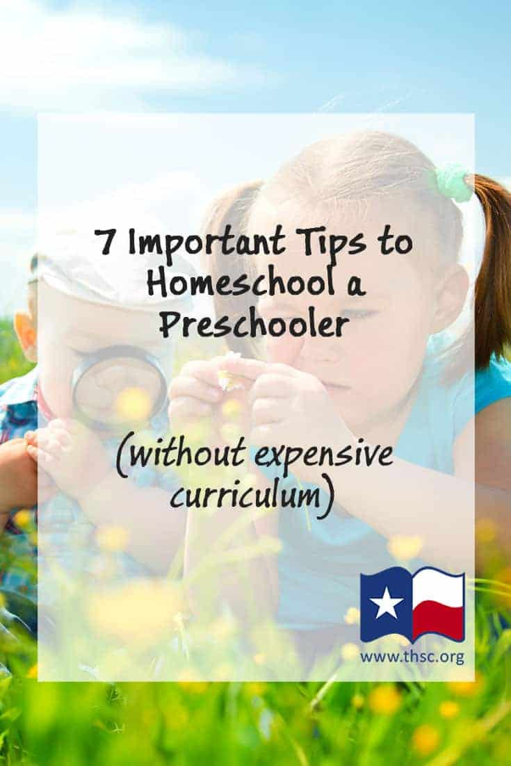 7 Important Tips to Homeschool a Preschooler (without expensive curriculum)