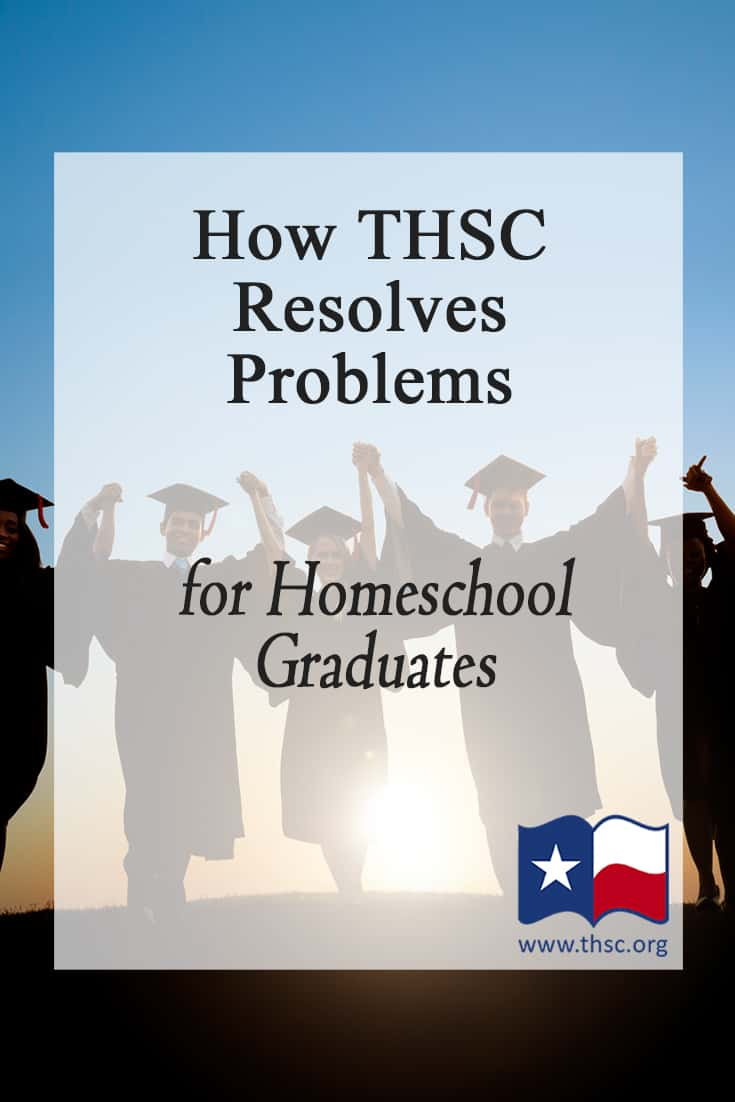 How THSC Resolves Problems for Homeschool Graduates