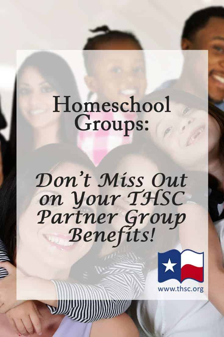 Homeschool Groups: Don't Miss Out on Your THSC Partner Group Benefits!
