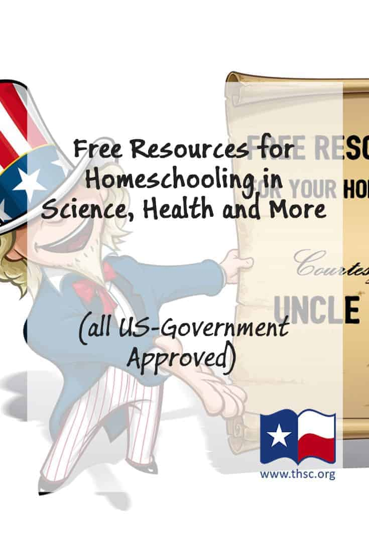 Free Resources for Homeschooling in Science, Health and More (all US-Government Approved)