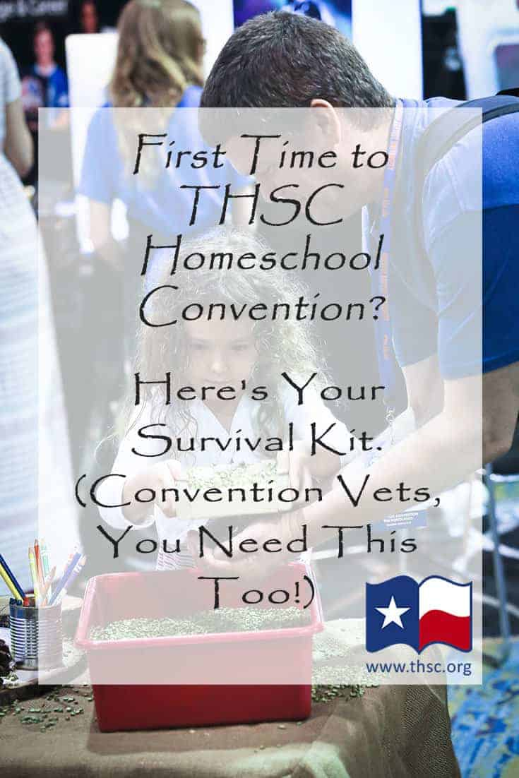 First Time to THSC Homeschool Convention? Here's Your Survival Kit. (Convention Vets, You Need This Too!)