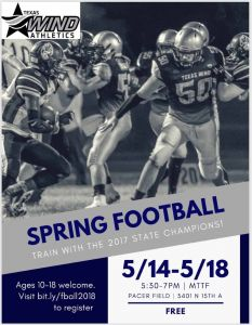 Spring Football Camp 5/14-5/18