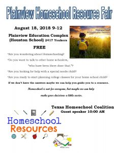 PACE Plainview Homeschool Resource Fair