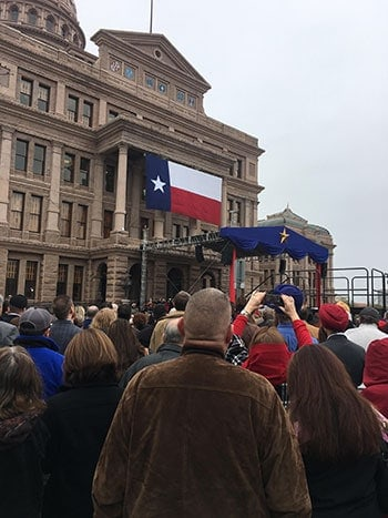 THSC Watchmen Attend Inauguration During Second Week in Austin