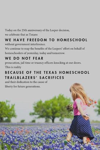 Leeper Day 2019: Celebrating 25 Years of Homeschooling Freedom in Texas